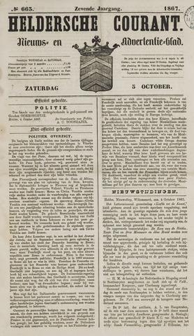 Heldersche Courant 1867-10-05