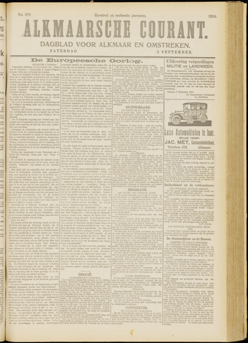 Alkmaarsche Courant 1914-09-05