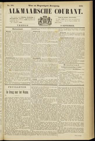 Alkmaarsche Courant 1892-09-09