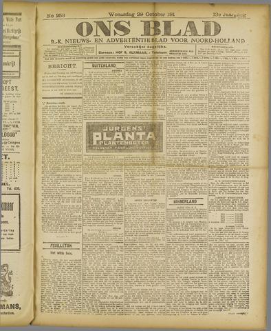 Ons Blad : katholiek nieuwsblad voor N-H 1919-10-29