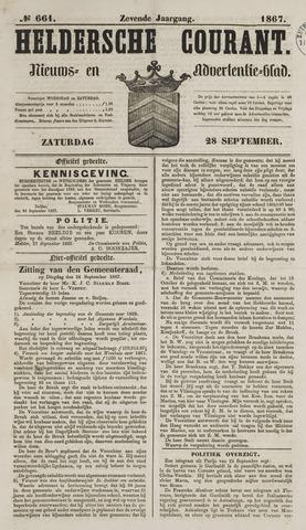 Heldersche Courant 1867-09-28