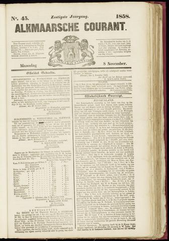 Alkmaarsche Courant 1858-11-08