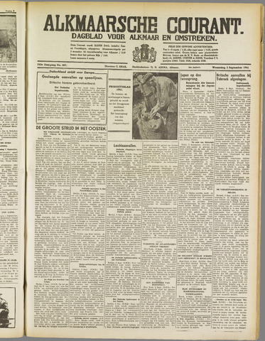 Alkmaarsche Courant 1941-09-03