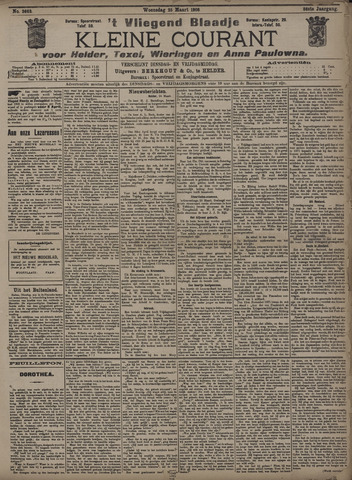 Vliegend blaadje : nieuws- en advertentiebode voor Den Helder 1908-03-25