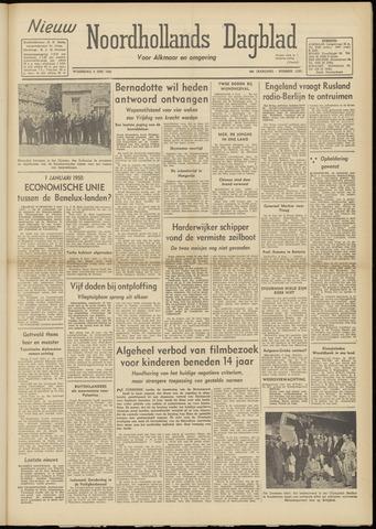 Nieuw Noordhollandsch Dagblad : voor Alkmaar en omgeving 1948-06-09