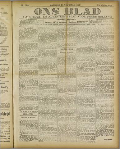 Ons Blad : katholiek nieuwsblad voor N-H 1919-08-02