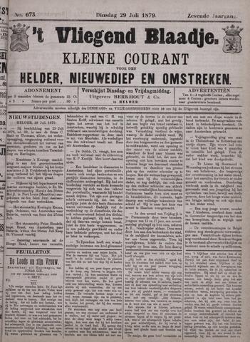 Vliegend blaadje : nieuws- en advertentiebode voor Den Helder 1879-07-29