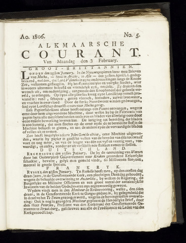 Alkmaarsche Courant 1806-02-03