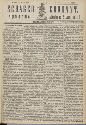Schager Courant 1920-07-08