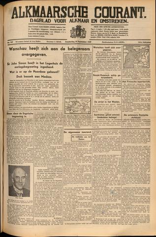 Alkmaarsche Courant 1939-09-28