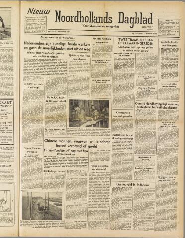 Nieuw Noordhollandsch Dagblad : voor Alkmaar en omgeving 1947-08-09