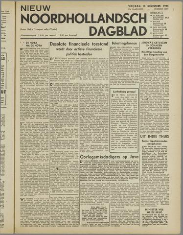 Nieuw Noordhollandsch Dagblad : voor Alkmaar en omgeving 1945-12-14
