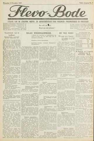Flevo-bode: nieuwsblad voor Wieringen-Wieringermeer 1949-12-14