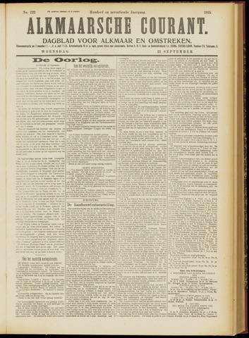 Alkmaarsche Courant 1915-09-22