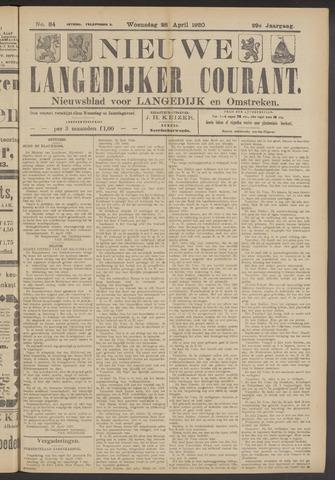 Nieuwe Langedijker Courant 1920-04-28