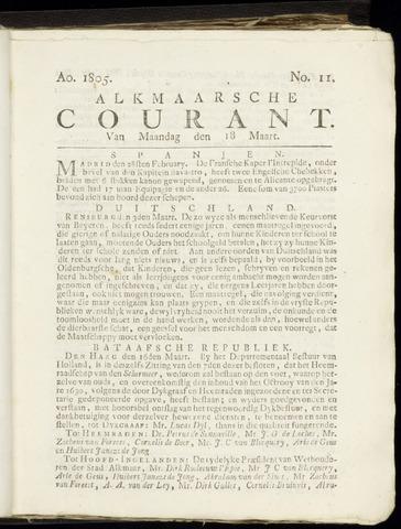 Alkmaarsche Courant 1805-03-18