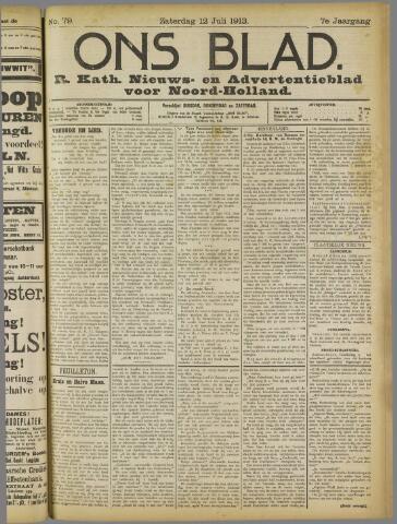 Ons Blad : katholiek nieuwsblad voor N-H 1913-07-12