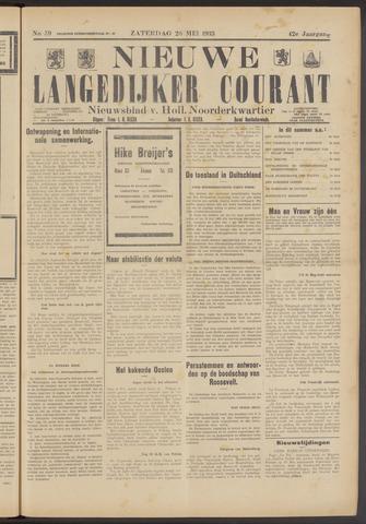 Nieuwe Langedijker Courant 1933-05-20