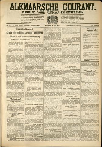 Alkmaarsche Courant 1934-07-09