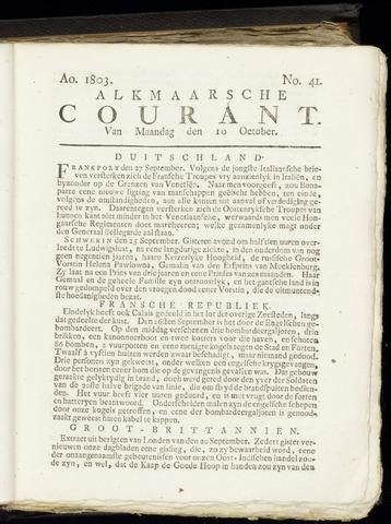 Alkmaarsche Courant 1803-10-10