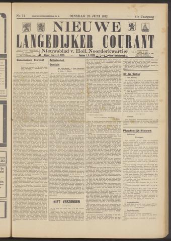 Nieuwe Langedijker Courant 1932-06-28