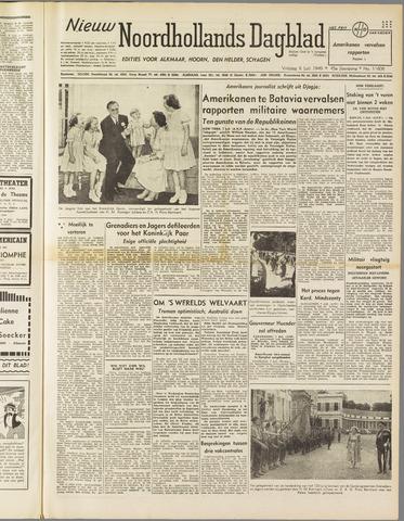 Nieuw Noordhollandsch Dagblad : voor Alkmaar en omgeving 1949-07-08