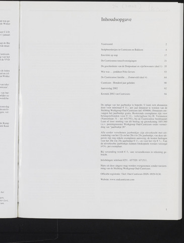 Jaarboek Oud Castricum 2003-11-01