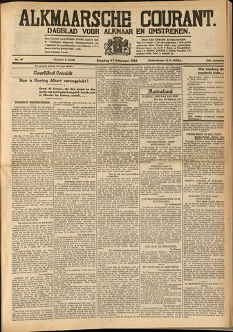 Alkmaarsche Courant 1934-02-27