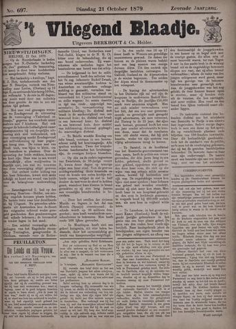 Vliegend blaadje : nieuws- en advertentiebode voor Den Helder 1879-10-21