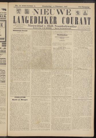 Nieuwe Langedijker Courant 1927-02-24