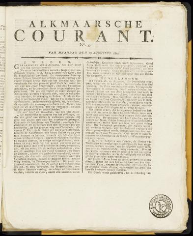 Alkmaarsche Courant 1814-08-29