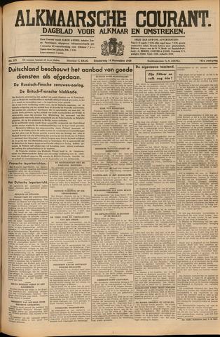 Alkmaarsche Courant 1939-11-16