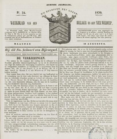 Weekblad van Den Helder en het Nieuwediep 1850-08-19