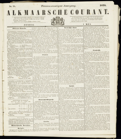 Alkmaarsche Courant 1870-05-01