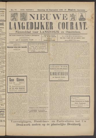 Nieuwe Langedijker Courant 1920-09-25