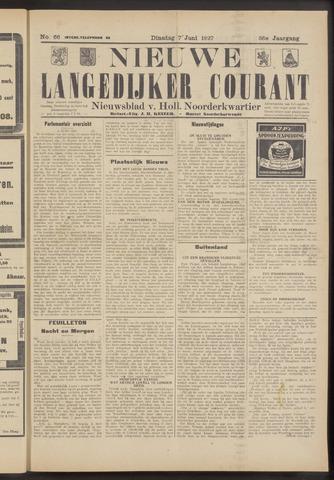 Nieuwe Langedijker Courant 1927-06-07