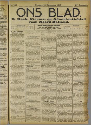 Ons Blad : katholiek nieuwsblad voor N-H 1912-12-10
