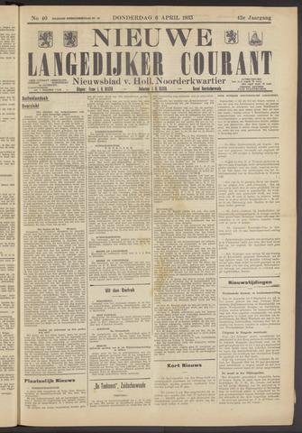 Nieuwe Langedijker Courant 1933-04-06