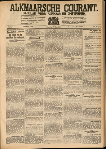 Alkmaarsche Courant 1934-05-29
