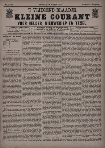 Vliegend blaadje : nieuws- en advertentiebode voor Den Helder 1884-01-19
