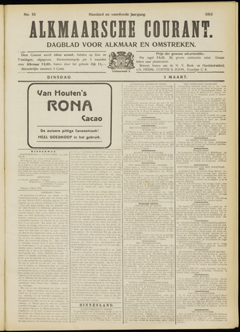 Alkmaarsche Courant 1912-03-05