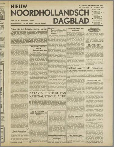 Nieuw Noordhollandsch Dagblad : voor Alkmaar en omgeving 1945-09-24