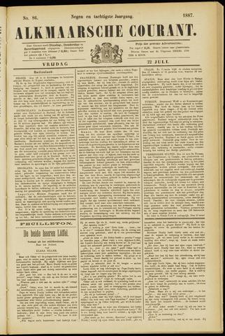 Alkmaarsche Courant 1887-07-22