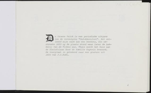 De Groene Valck 1986-01-01