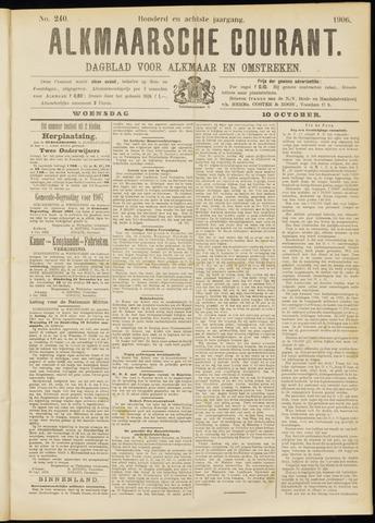 Alkmaarsche Courant 1906-10-10