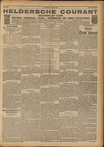 Heldersche Courant 1921-06-04