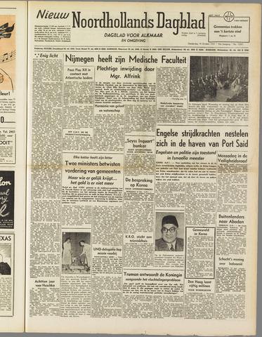 Nieuw Noordhollandsch Dagblad : voor Alkmaar en omgeving 1951-10-18