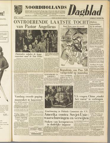 Noordhollands Dagblad : dagblad voor Alkmaar en omgeving 1958-10-11