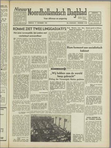 Nieuw Noordhollandsch Dagblad : voor Alkmaar en omgeving 1946-12-17