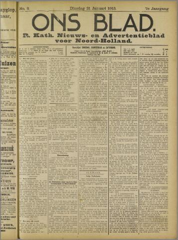 Ons Blad : katholiek nieuwsblad voor N-H 1913-01-21